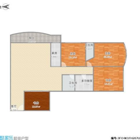 繁荣广场4室1厅2卫1厨229.00㎡户型图