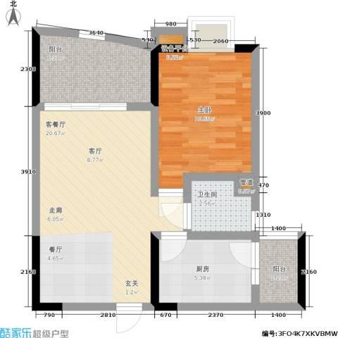 尚赏居1室1厅1卫1厨49.00㎡户型图