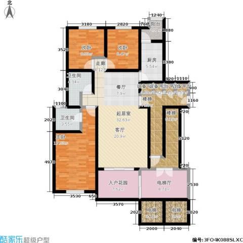 格林花园3室0厅2卫1厨145.00㎡户型图