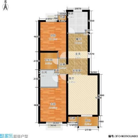欧逸丽庭2室0厅2卫1厨103.00㎡户型图