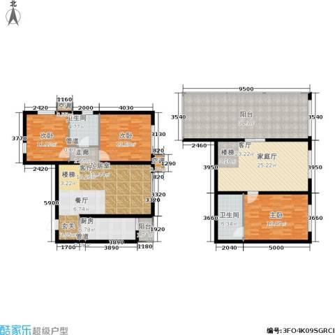 欧逸丽庭3室0厅2卫1厨150.28㎡户型图
