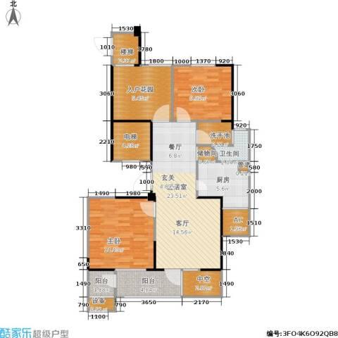 长江国际花园二期2室0厅1卫1厨94.00㎡户型图