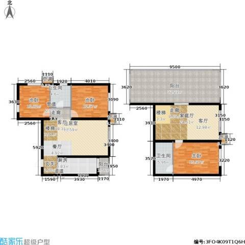 欧逸丽庭3室0厅2卫1厨148.05㎡户型图