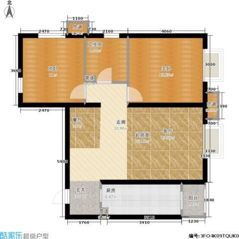 欧逸丽庭2室0厅1卫1厨86.00㎡户型图
