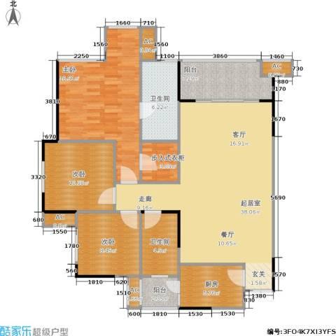 金阳易诚国际3室0厅2卫1厨147.00㎡户型图
