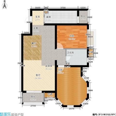 欧逸丽庭2室0厅1卫1厨101.00㎡户型图