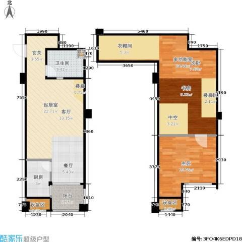 立方寓1室0厅1卫1厨73.00㎡户型图