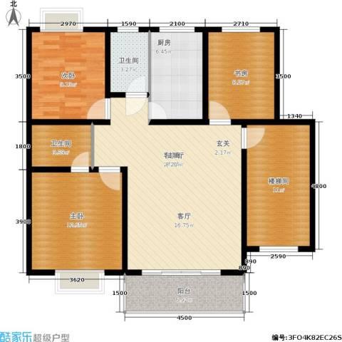 景香苑3室1厅2卫1厨100.00㎡户型图