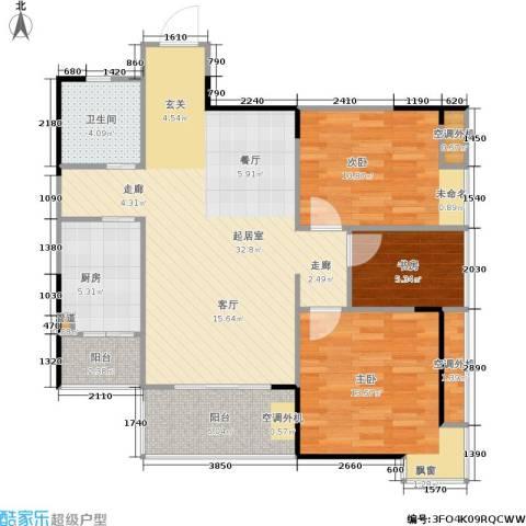 国瑞城3室0厅1卫1厨112.00㎡户型图