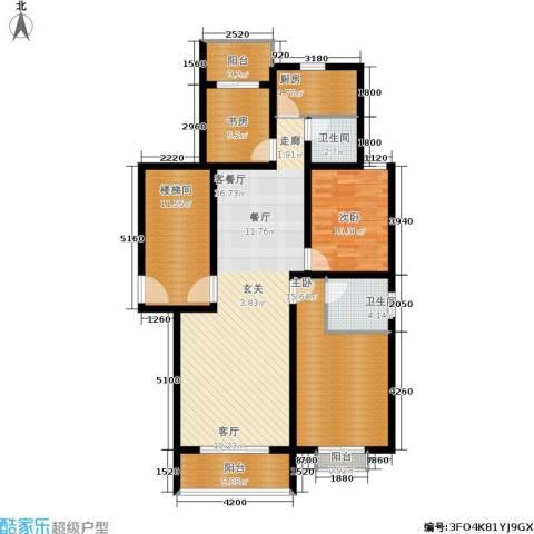 景香苑3室1厅2卫1厨101.21㎡户型图