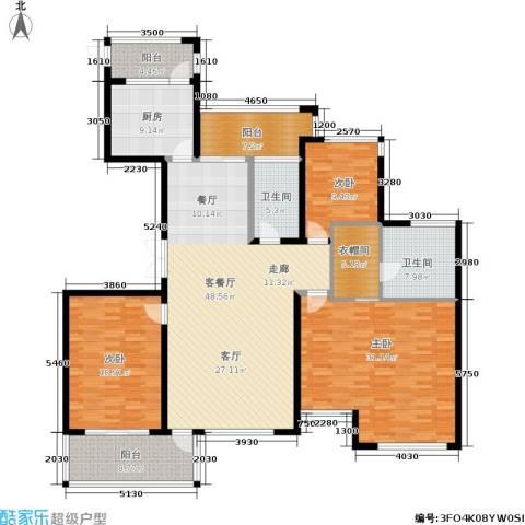 ART蓝海3室1厅2卫1厨219.00㎡户型图