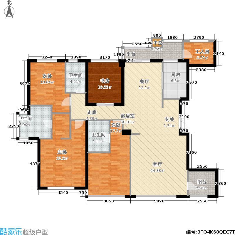 雅戈尔苏园180.00㎡雅戈尔苏园户型图B户型约(2/3张)户型4室2厅3卫