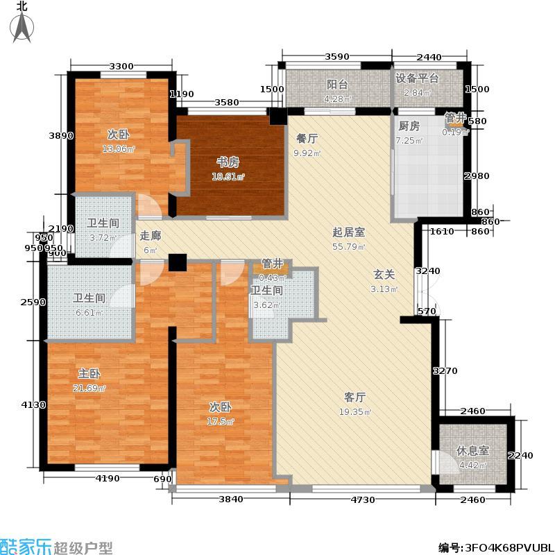 雅戈尔苏园170.00㎡雅戈尔苏园户型图A户型约(3/3张)户型4室2厅3卫