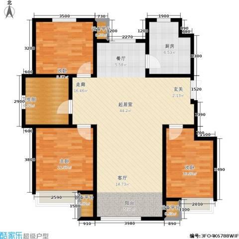 山中的都铎建筑3室0厅1卫1厨120.00㎡户型图
