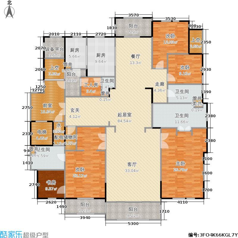 银亿钰鼎园D1 约280㎡户型5室3厅3卫