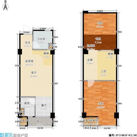 立方寓1室0厅1卫1厨122.00㎡户型图