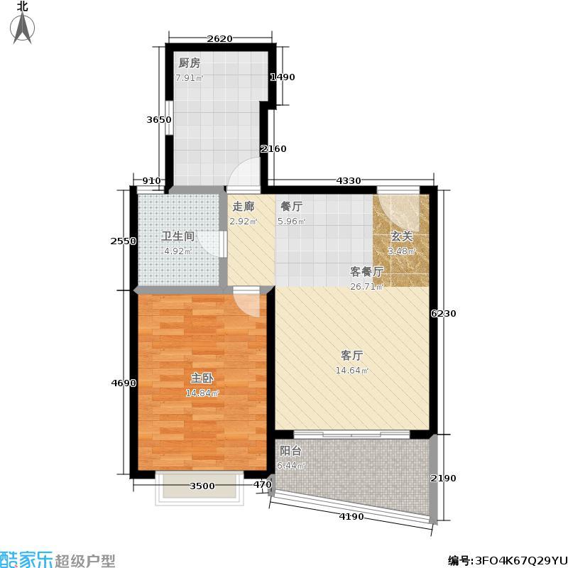 天山中华园68.35㎡房型: 一房; 面积段: 68.35 -68.35 平方米;户型