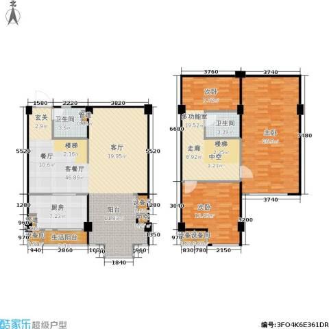 立方寓2室1厅2卫1厨170.00㎡户型图