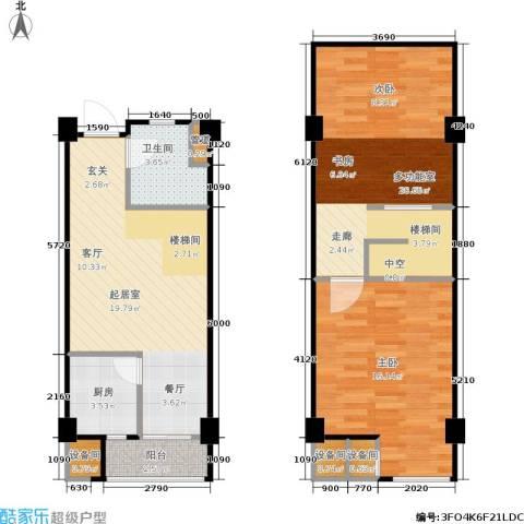 立方寓1室0厅1卫1厨95.00㎡户型图