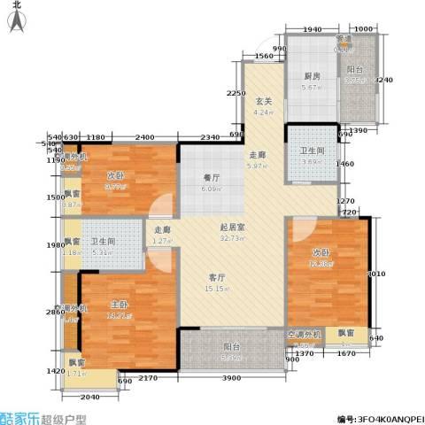 国瑞城3室0厅2卫1厨131.00㎡户型图