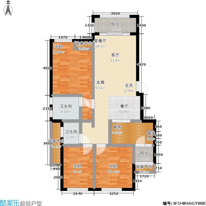 金科中央御院95.04㎡金科中央御院户型图A1/A2/A6/A7/A16/A17两室两厅双卫(可变三室两厅)套内面积85.04平米赠送面积8.46平米(1/2张)户型2室2厅2卫