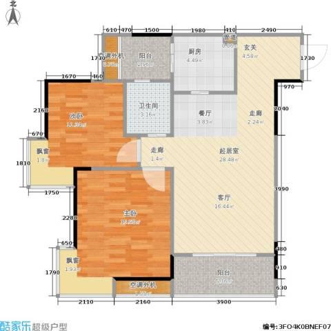 国瑞城2室0厅1卫1厨100.00㎡户型图