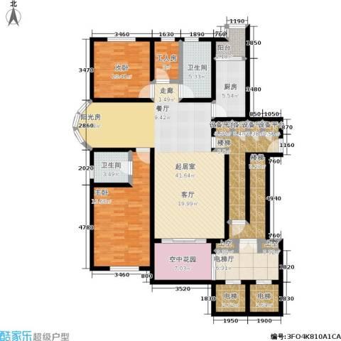 格林花园2室0厅2卫1厨145.00㎡户型图