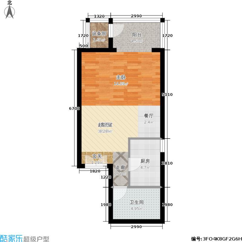 远洋山水一室一厅户型