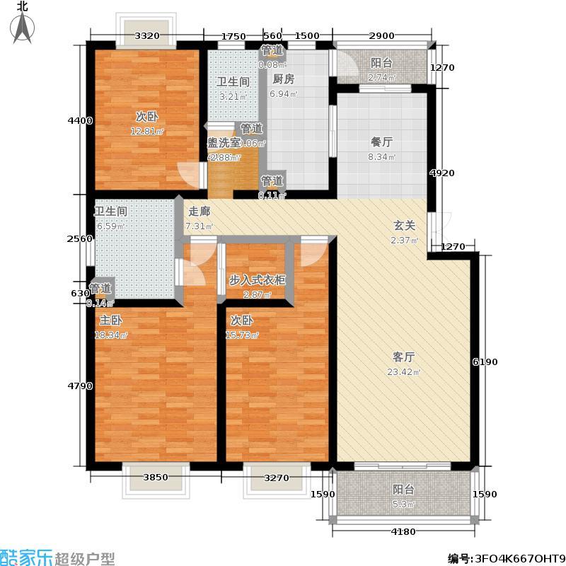新旺朝公寓139.24㎡房型: 三房; 面积段: 139.24 -147.48 平方米;户型