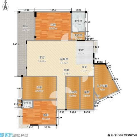 翠湖柳岸3室0厅3卫1厨144.00㎡户型图