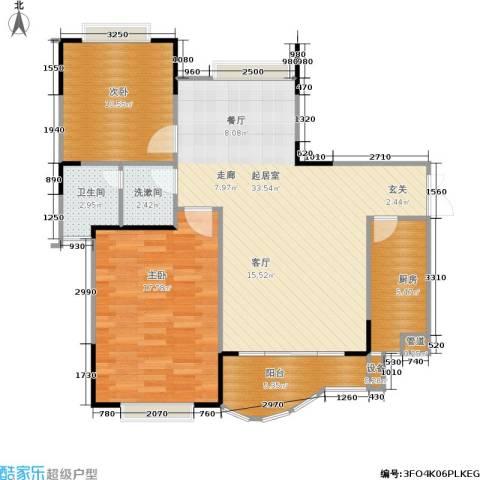 枫丹树语城2室0厅1卫1厨106.00㎡户型图