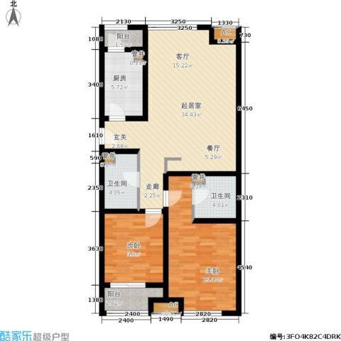 山水绿城2室0厅2卫1厨118.00㎡户型图