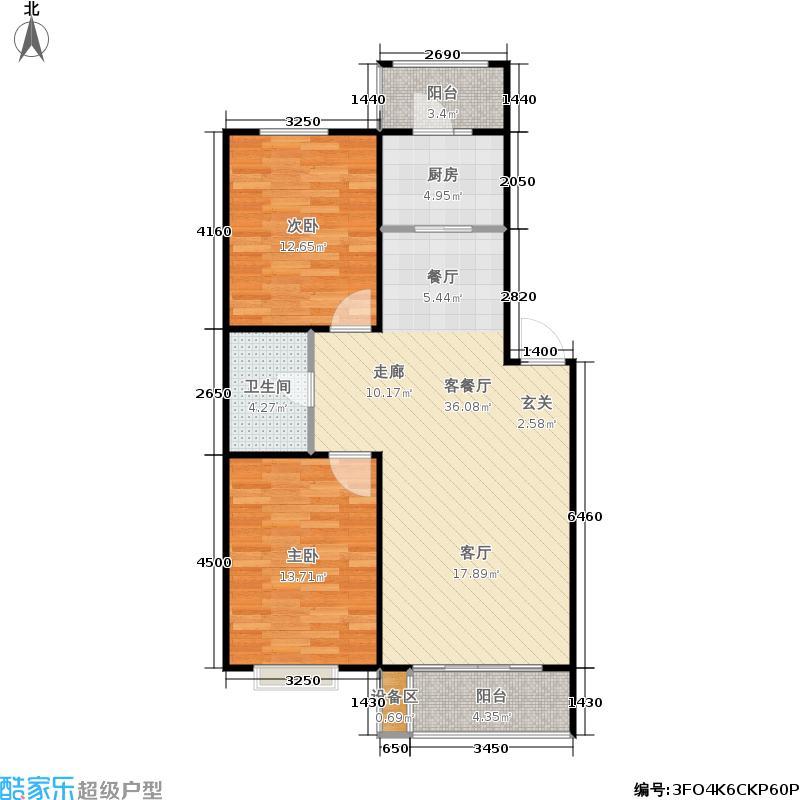 假日普罗旺斯86.00㎡假日普罗旺斯户型图二室二厅一卫(14/28张)户型10室