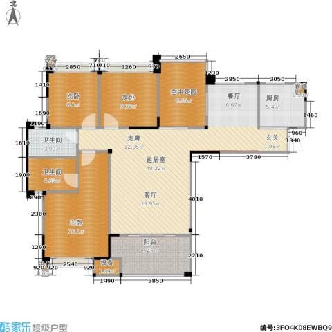 南方新城苹果派3室0厅2卫1厨115.71㎡户型图