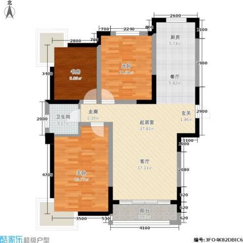 融城时代二期3室0厅1卫0厨114.00㎡户型图