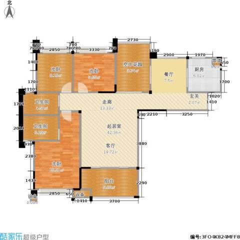 南方新城苹果派3室0厅2卫1厨121.20㎡户型图