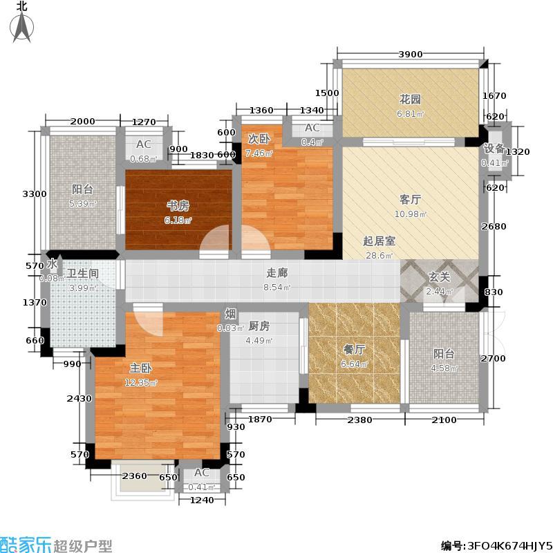 兴现金鼎龙泉104.13㎡兴现金鼎龙泉C1户型三室一厅一卫104.13平米户型3室1厅1卫