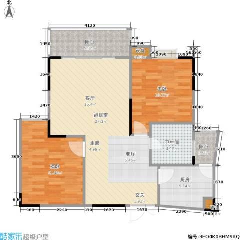 枫丹树语城2室0厅1卫1厨89.00㎡户型图