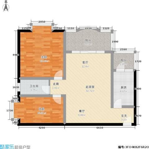 馨福花园2室0厅1卫1厨118.00㎡户型图