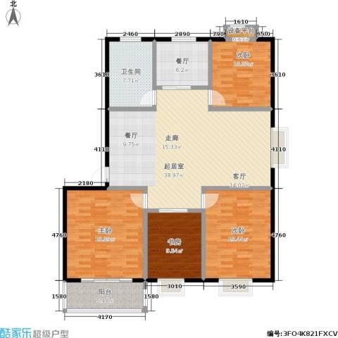 经典雅居二期4室1厅1卫0厨124.00㎡户型图