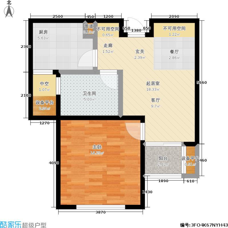 新创理想城57.19㎡新创理想城户型图D户型(3/27张)户型10室