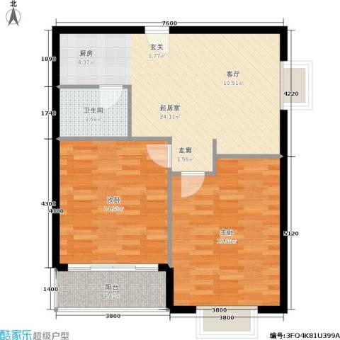 摩卡空间2室0厅1卫0厨70.00㎡户型图