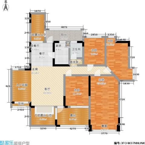 海语山林4室1厅1卫1厨199.00㎡户型图