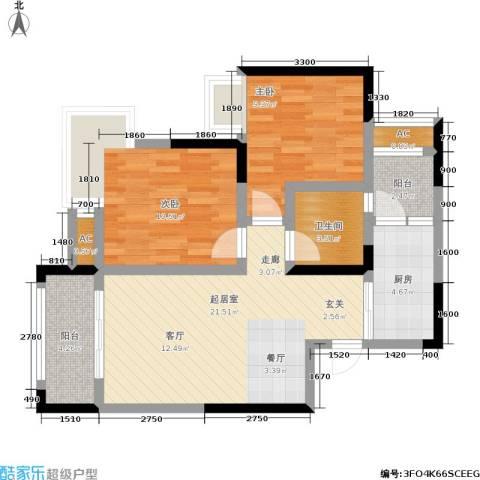 中房千寻2室0厅1卫1厨78.00㎡户型图