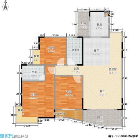 国瑞城3室0厅2卫1厨132.00㎡户型图