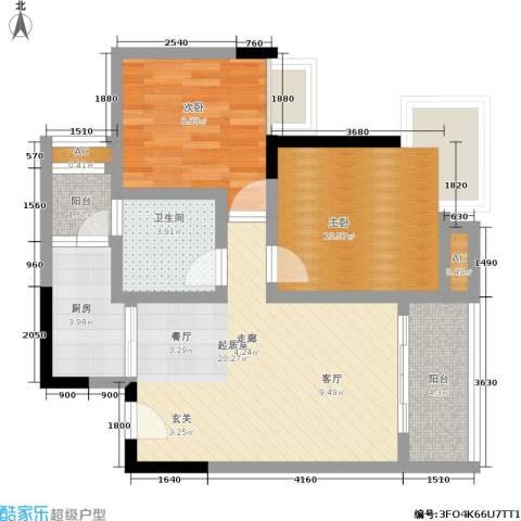 中房千寻2室0厅1卫1厨71.00㎡户型图