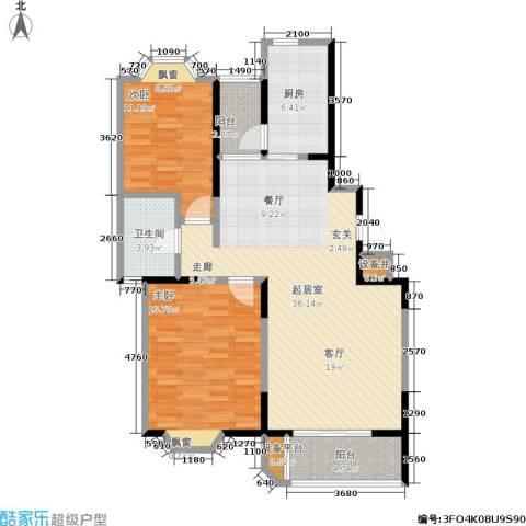 保利雅苑2室0厅1卫1厨94.00㎡户型图
