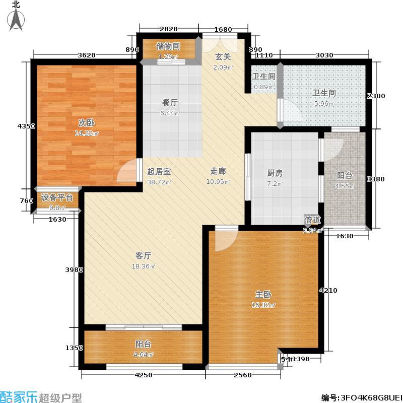 新创理想城新创理想城户型图小高层G户型(18/27张)户型10室