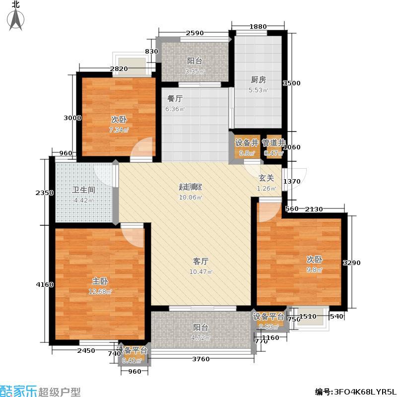 新创理想城90.00㎡新创理想城户型图房型:二房;面积段:90-100平方米;(5/5张)户型10室
