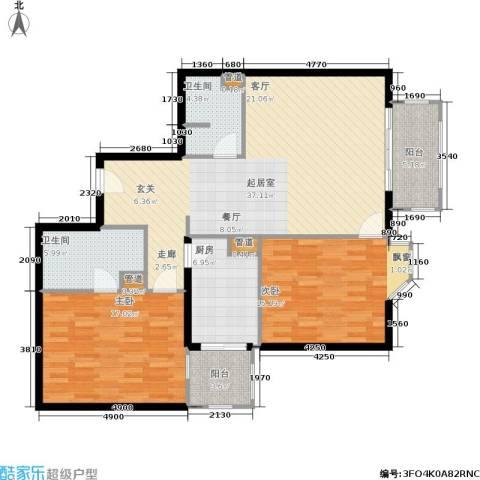 景泰嘉园2室0厅2卫1厨110.00㎡户型图